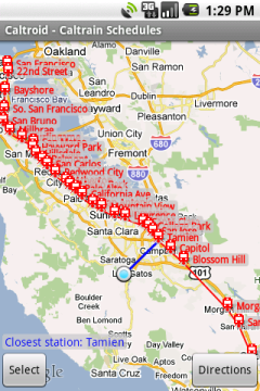 Caltroid - Caltrain Schedules for Android™ on